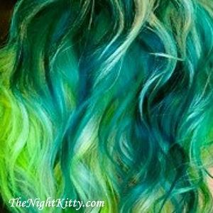 Ocean Blue Mermaid Hair Dye - The Night Kitty
