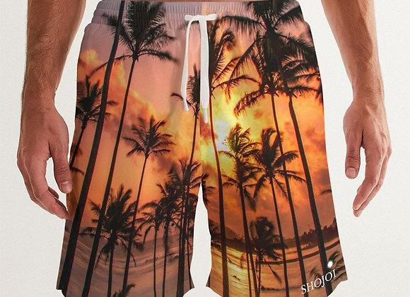 Palms at Sunset Men's Swim Trunks