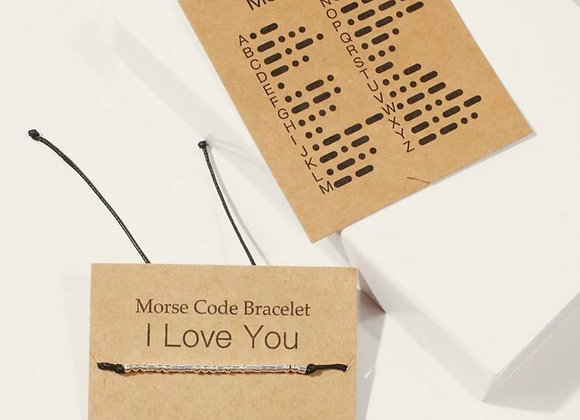 "Morse Code ""I Love You"" Bracelet"