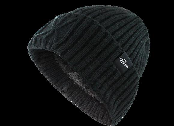 Fear0 Extreme Warm Black Cuff Winter Cap Beanie Hat Men Women