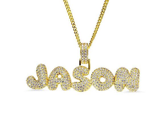 Custom Bubble Letter Necklace