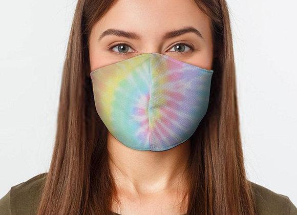 Pastel Tie Dye Preventative Face Mask