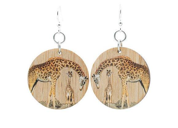 Giraffe Bamboo Earrings #901