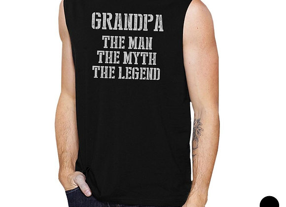 Legend Grandpa Mens Cool Pride Fathers Day Muscle Shirt Present