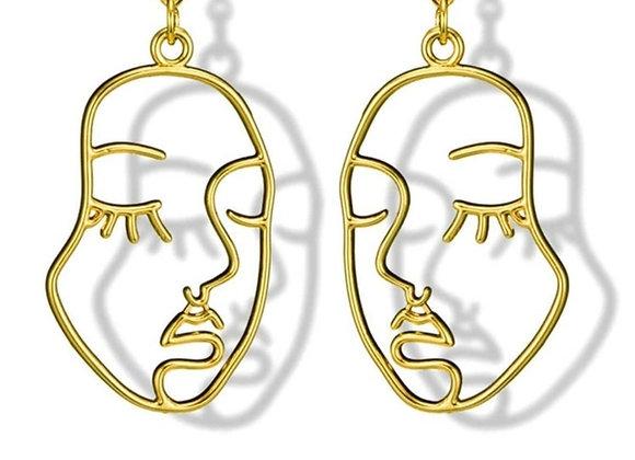 Face Design Earring