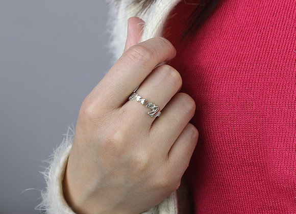 Personalized Carrie Name Ring Sterling Silver