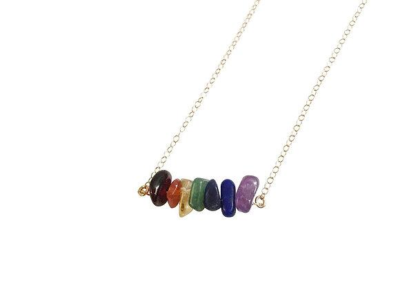 Balancing the 7 Chakras Gemstone Necklace