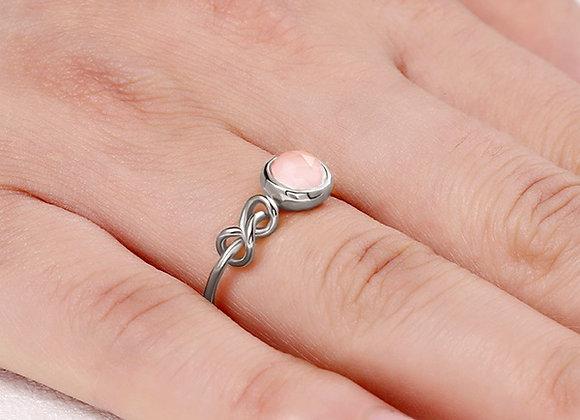 Custom Infinity Knot Birthstone Ring