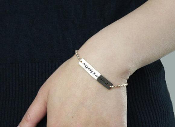 Personalized Name Bar Bracelet