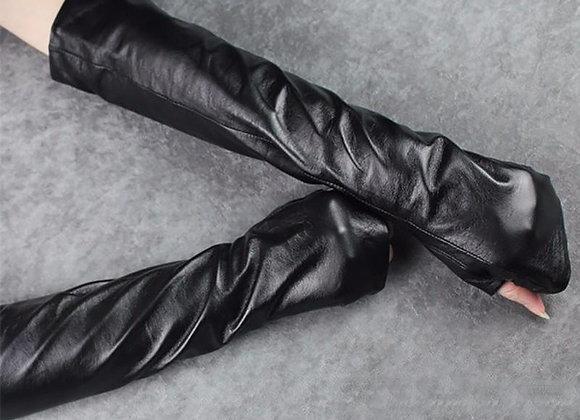 Zuriel Fingerless Gloves - Vegan Leather