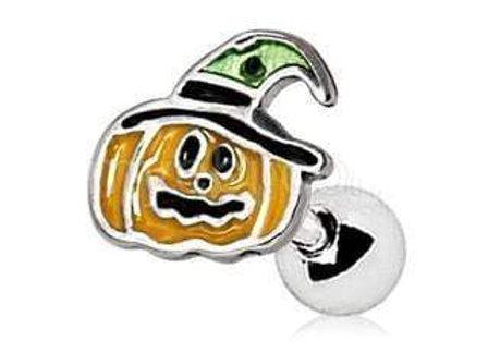 Halloween Pumpkin Cartilage Earring