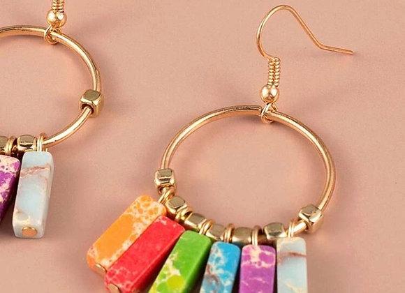 Marble Multicolor Earrings