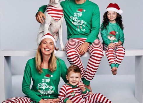 Elf Holiday Pajama Set