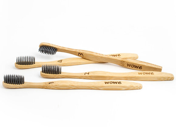 Charcoal Infused Bristle Bamboo Toothbrush