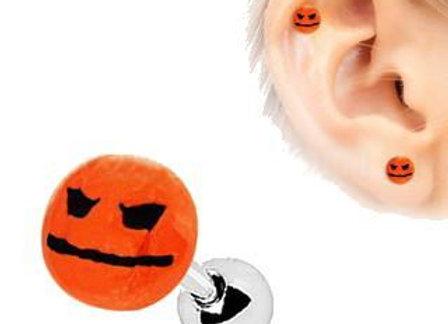 Halloween Face Pumpkin Cartilage Earring