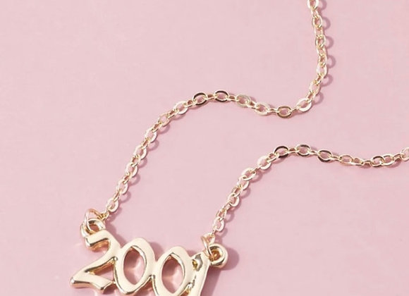 Signature Year Gold Necklace