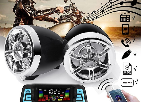 Waterproof Motorcycle Audio FM Radio System Stereo Speaker