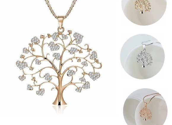 "Gold ""Tree of Life"" Family Pendant Necklace"