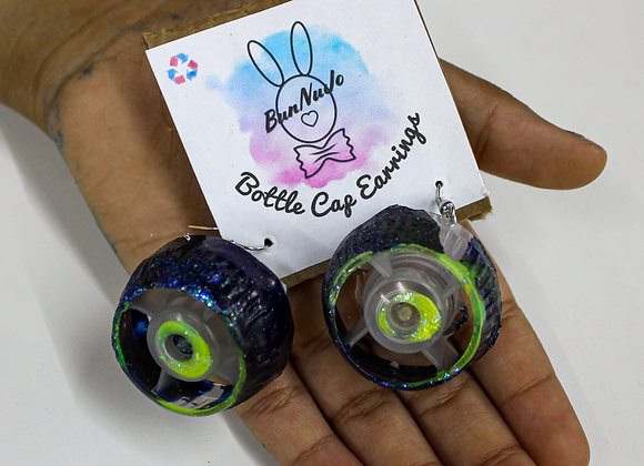 Bunnujo Bottle Cap Earrings-Glow in the Dark