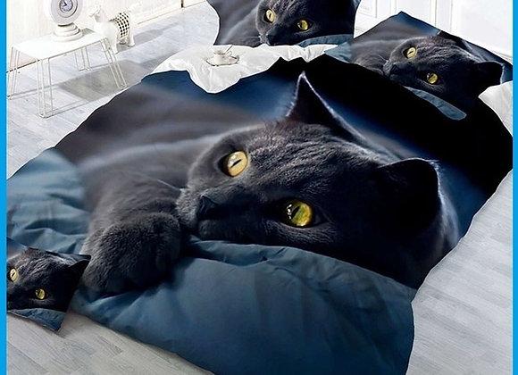 3 piece Cat King bed set