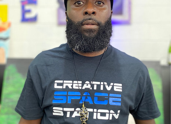 Creative  Space Station  Why We Vote? Tee Black shirt front & back 2 colors