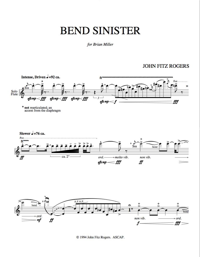 Bend Sinister - dedication page