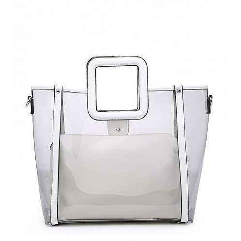 Maddy's White Perspex 2in1 Tote