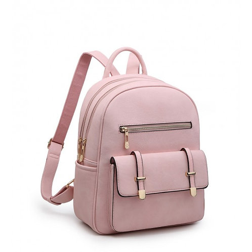 Elsa Multi-pocket Two Compartment Pink Backpack