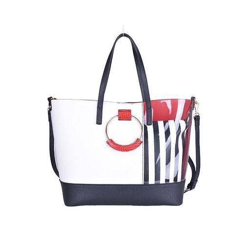 Lady Boss Black/White Tote Bag