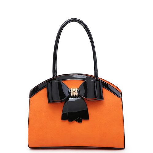Diva Bow Arch Orange/Black Tote