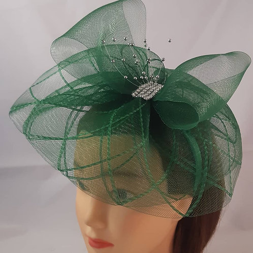 CassyD Glamorous Green Fascinator