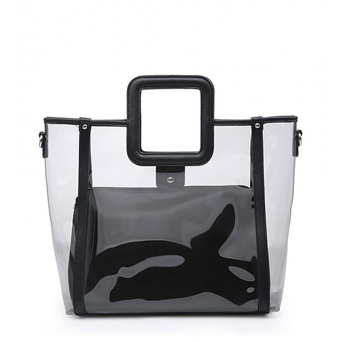 Maddy's Black Perspex 2in1 Tote