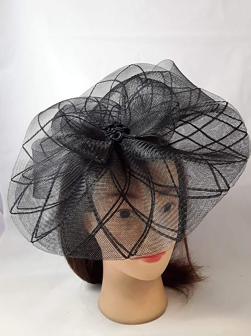 CassyD Elegant Patterned Fascinator
