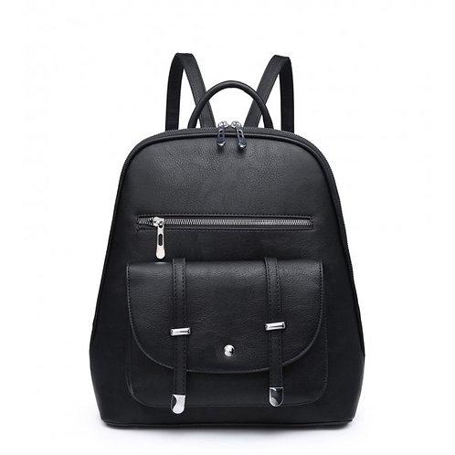 Office Girl Black Backpack