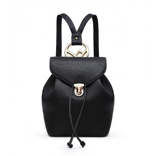 Maddy's Metal Ring Backpack Black