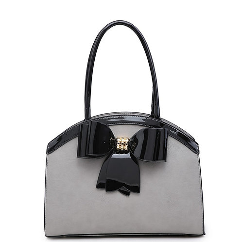 Diva Bow Arch Grey/Black Tote