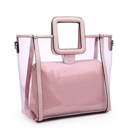 Maddy's Pink Perspex 2in1 Tote