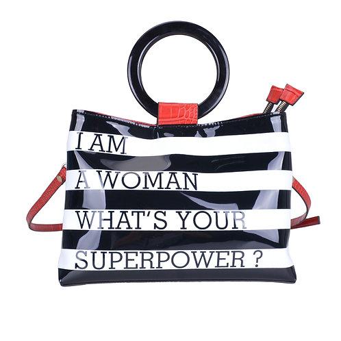 Lady Boss Ring Handle Shoulder Bag