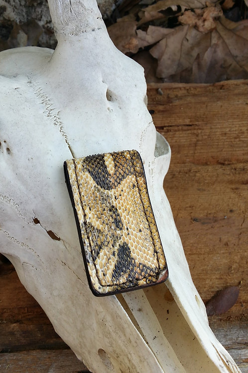 Boa constrictor snake skin money clip