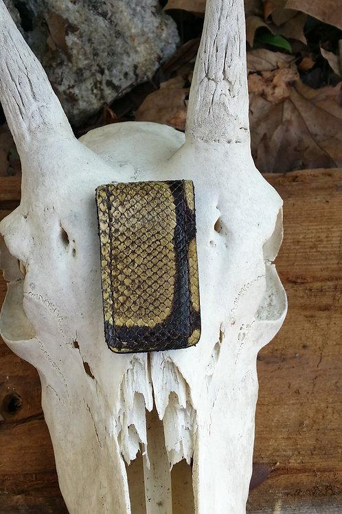 Ball python snake skin money clip