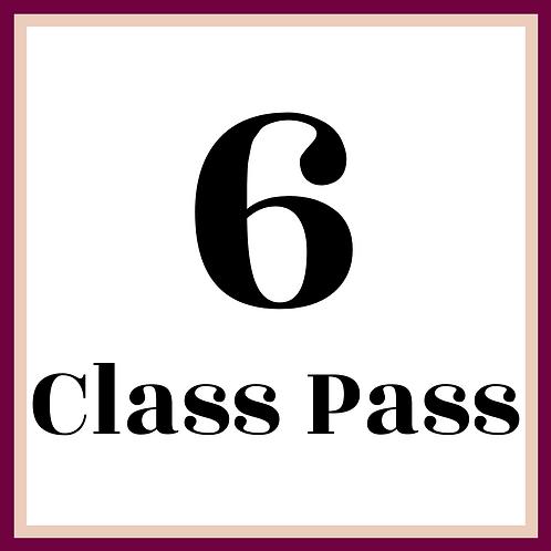 6 Class Pass