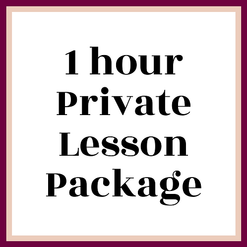 1 h Private Lesson Package