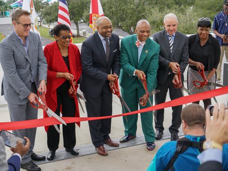 Hard Rock Stadium Pedestrian Bridge Ribbon-cutting ceremony