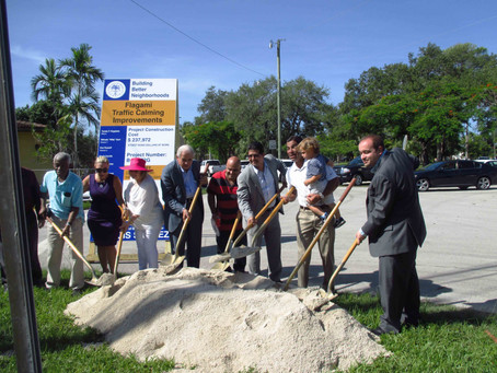 Groundbreaking Ceremony for The Flagami Area safety improvements.