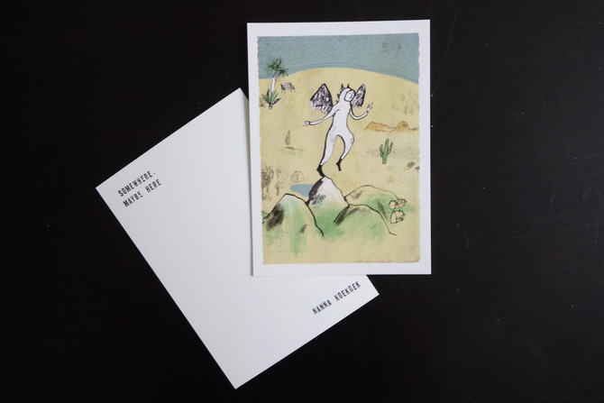 The Angel postcards - The colourful set