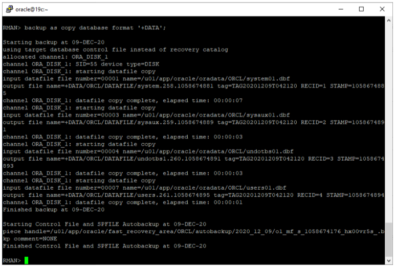oracle non-asm to asm migration - restore data files to ASM