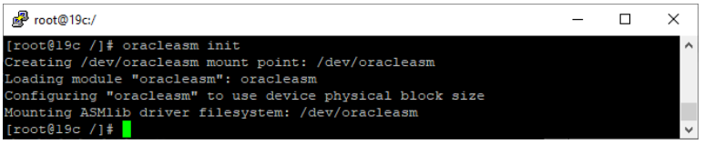 oracle non-asm to asm migration - oracleasm init