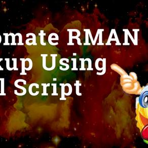 Automate RMAN Backup using Shell Script