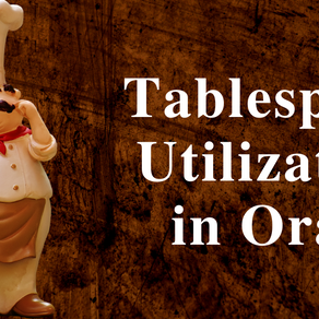 Tablespace utilization in Oracle