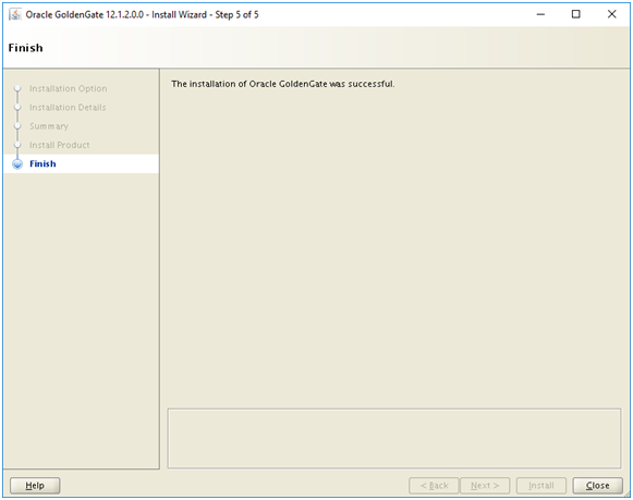 install oracle 12c golden gate - oracle goldengate installation finish